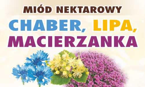 Miód nektarowy – Chaber, Lipa, Macierzanka