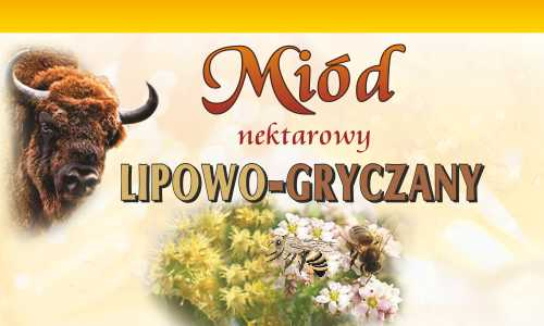 Miód nektarowy lipowo-gryczany