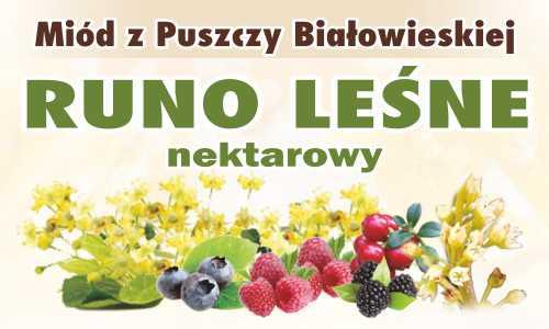 Miód z Puszczy Białowieskiej Runo Leśne nektarowy